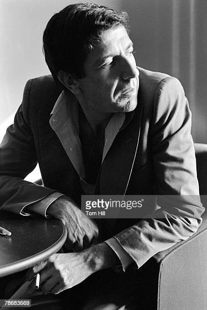 Leonard Cohen being interviewed