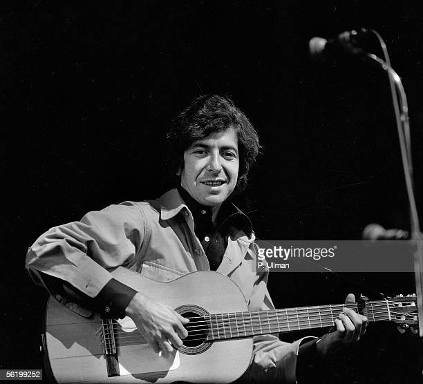 Leonard Cohen Canadian singer and writer of Englishlanguage in concert France 1970