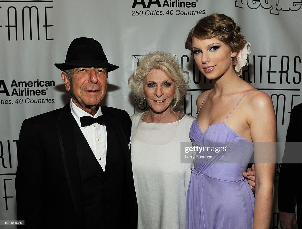 Leonard Cohen, Judy Collins and Taylor Swift attend the 41st Annual Songwriters Hall of Fame Ceremony at The New York Marriott Marquis on June 17, 2010 in New York City.