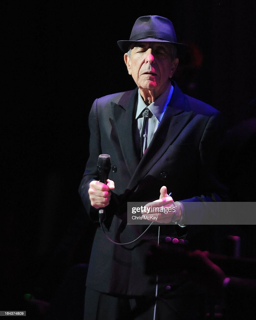 Leonard Cohen performs at the Fox Theater on March 22, 2013 in Atlanta, Georgia.