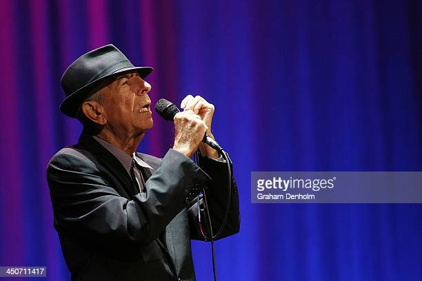 Leonard Cohen performs live for fans at Rod Laver Arena on November 20 2013 in Melbourne Australia