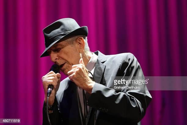 Leonard Cohen performs live for fans at Rod Laver Arena on November 20 2013 in Melbourne Australia