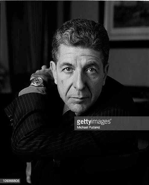 Leonard Cohen portrait London December 1987