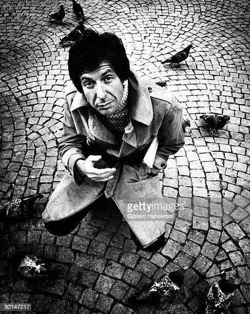 Leonard Cohen posed in Amsterdam Holland in April 1972