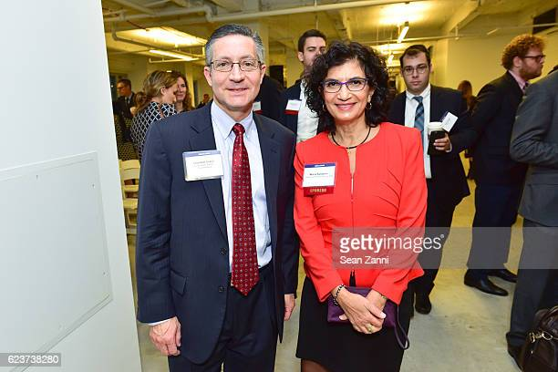 Leonard Crann and Maria Kastanis attend The Commercial Observer Financing Commercial Real Estate at 666 Fifth Avenue on November 15 2016 in New York...