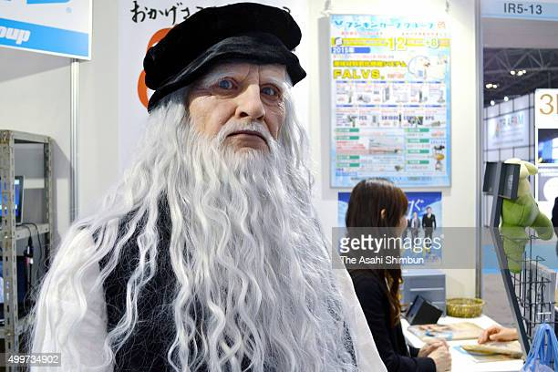 Leonard da Vinci Android is displayed during the International Robot Exhibition at the Tokyo Big Sight on December 2 2015 in Tokyo Japan The biennial...