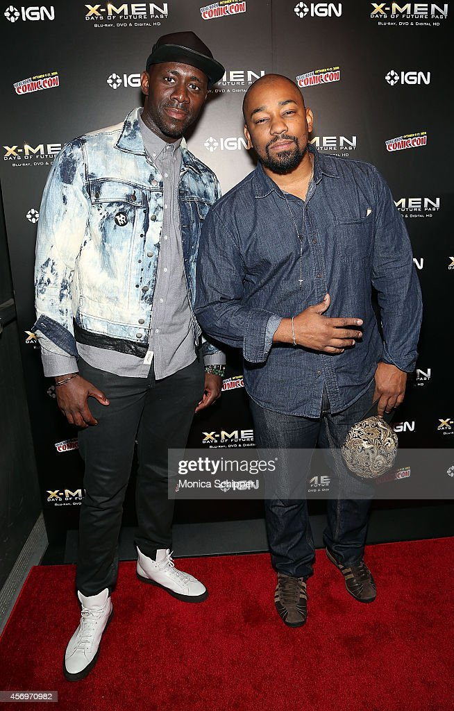 Leonard Dixon and actor Dennis LA White attend the 'XMen Days Of Future Past' Home Entertainment Release Party at Marquee on October 9 2014 in New...