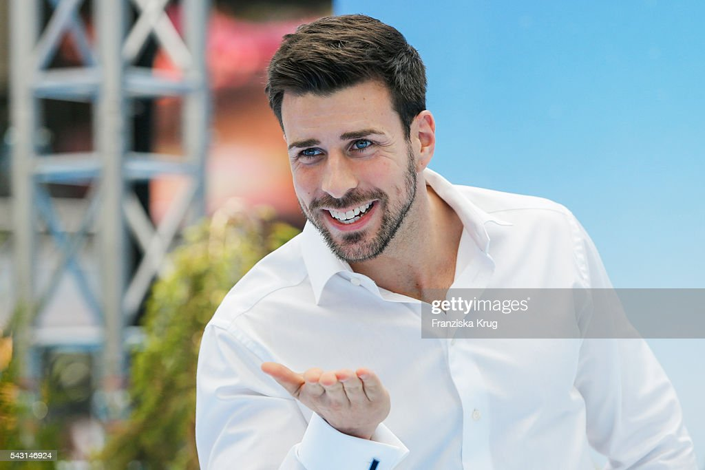 Leonard Freier, the 'Bachelor' of the german TV show 'The Bachelor' attends the 'Ice Age - Kollision Voraus' German Premiere at CineStar on June 26, 2016 in Berlin, Germany.