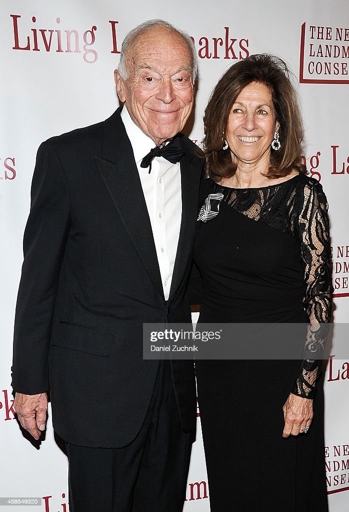 Leonard Lauder (L) attends the 21st Annual Living Landmarks Ceremony at The Plaza Hotel on November 6, 2014 in New York City.