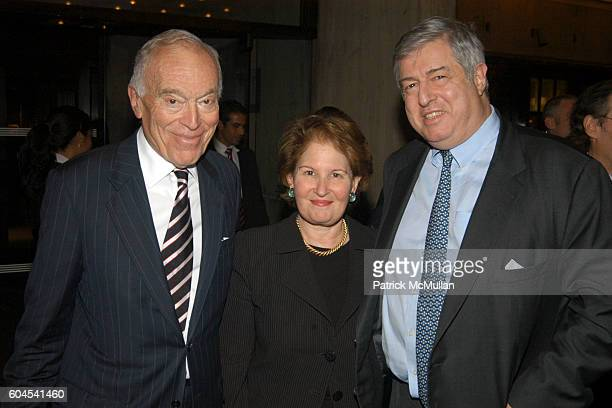 Leonard Lauder Nina Zagat and Tim Zagat attend Leonard Lauder and Howard Rubenstein Host the Viewing of Picasso and American Art at The Whitney...