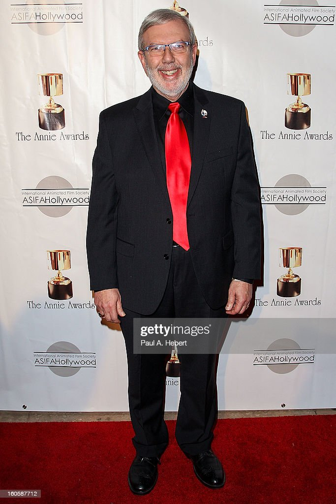 Leonard Maltin arrives at the 40th Annual Annie Awards held at Royce Hall on the UCLA Campus on February 2, 2013 in Westwood, California.