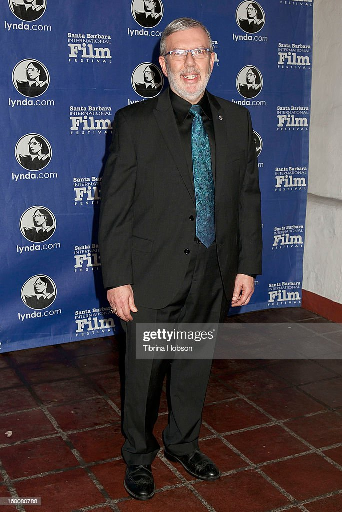 <a gi-track='captionPersonalityLinkClicked' href=/galleries/search?phrase=Leonard+Maltin&family=editorial&specificpeople=208242 ng-click='$event.stopPropagation()'>Leonard Maltin</a> arrives to the 28th annual Santa Barbara International Film Festival's Modern Master Award Tribute honoring Ben Affleck at Arlington Theatre on January 25, 2013 in Santa Barbara, California.