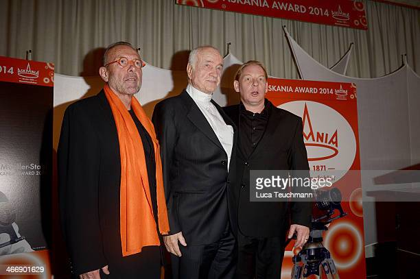 Leonard Mueller Armin MuellerStahl and Ben Becker attend Askania Award 2014 at Kempinski Hotel Bristol on February 4 2014 in Berlin Germany