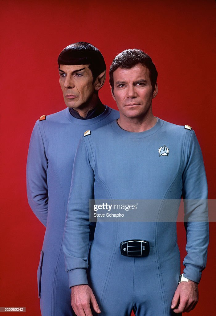 Leonard Nimoy as Mr Spock and William Shatner as Admiral James T Kirk in the 1979 film Star Trek The Motion Picture