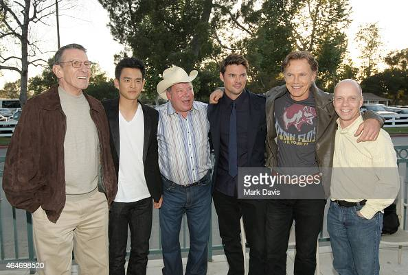 Leonard Nimoy John Cho William Shatner Karl Urban Bruce Greenwood and Scott Hamilton attend the 19th Annual 'Hollywood Charity Horse Show' at the Los...
