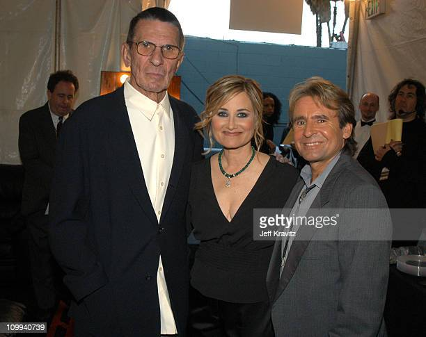 Leonard Nimoy Maureen McCormick and Davy Jones during The TV Land Awards Backstage at Hollywood Palladium in Hollywood CA United States