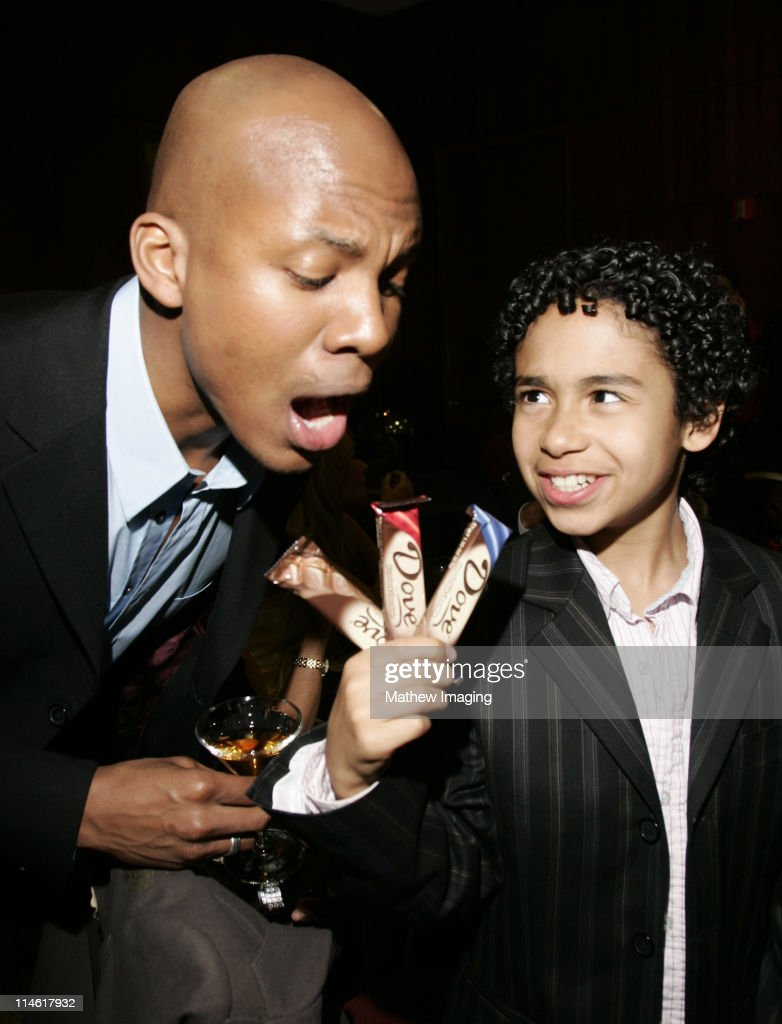 Leonard Robert and Noah Gray-Cabey during The Academy of Television Arts and Sciences Presents An Evening with 'Heroes' - VIP Reception at Leonard H. Goldenson Theatre in North Hollywood, California, United States.