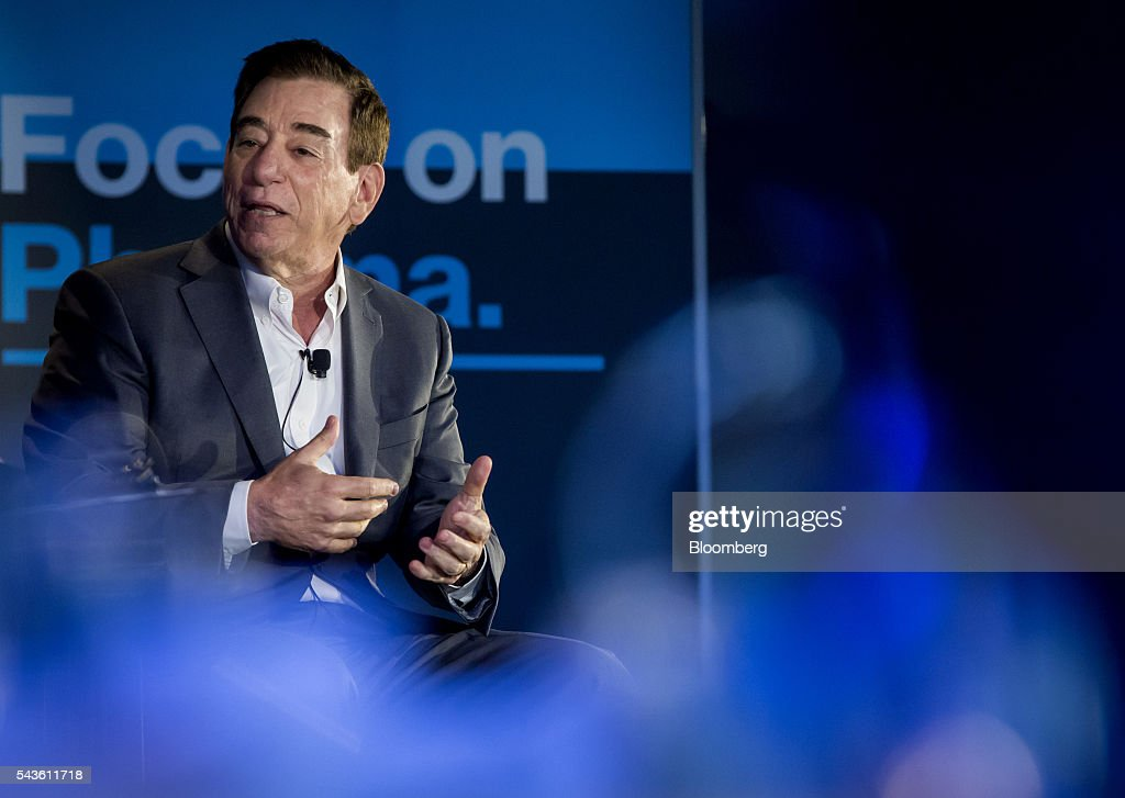 Leonard S. Schleifer, president and chief executive officer of Regeneron Pharmaceuticals Inc., speaks during the Bloomberg 'Focus on Pharma' event in New York, U.S., on Wednesday, June 29, 2016. Schleifer discussed the need for the pharmaceutical industry to do a better job explaining the value proposition of products they bring out and the need to price drugs at a more reasonable rate. Photographer: Eric Thayer/Bloomberg via Getty Images