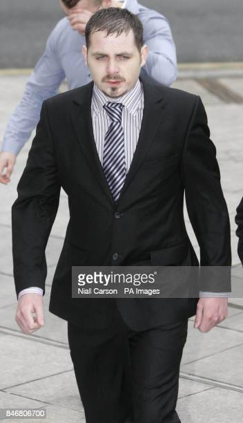Leonard Watters arrives at Dublin District Court where he will be sentenced after apologising for falsely accusing X Factor judge Louis Walsh of...