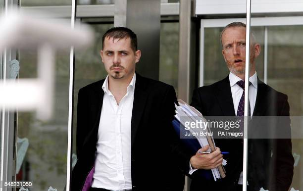 Leonard Watters with his solicitor Cahir O'Higgins leaving Dublin Circuit Court where a decision on his appeal against his six month sentence for...