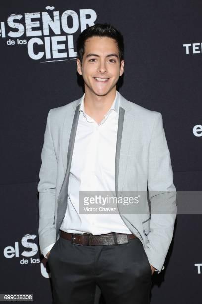 Leonardo Alvarez attends the 'El Senor De Los Cielos' Season 5 premiere red carpet at Cinemex Antara Polanco on June 20 2017 in Mexico City Mexico
