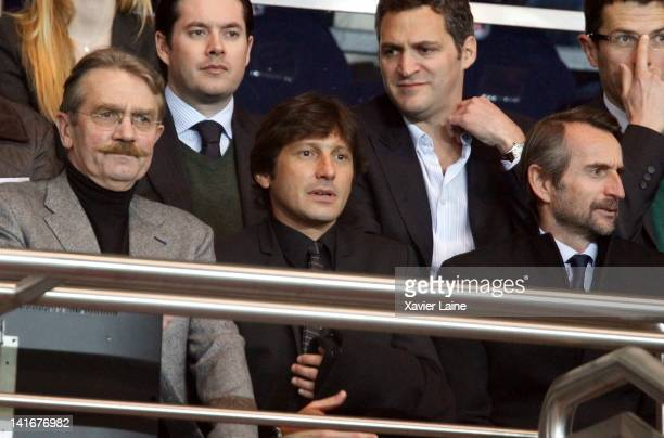 Leonardo Araujo manager of Paris Saint Germain attends the French cup match between Paris Saint Germain and Lyon Olympic at Parc des Princes on March...