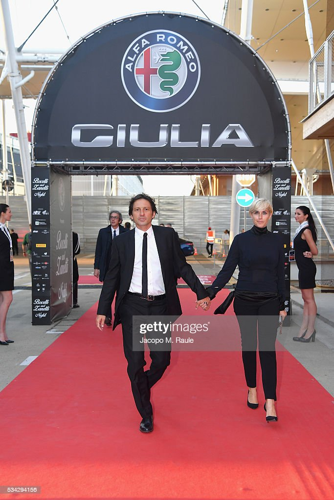 Leonardo Billo and Anna Billo arrive at Bocelli and Zanetti Night on May 25, 2016 in Rho, Italy.