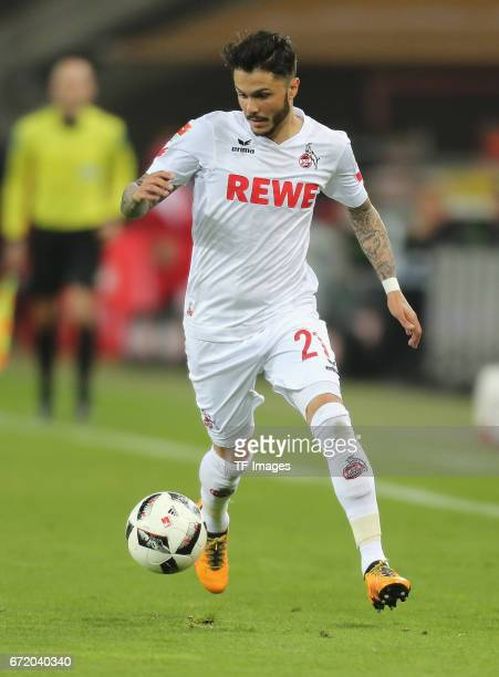 Leonardo Bittencourt controls the ball during the Bundesliga match between 1 FC Koeln and TSG 1899 Hoffenheim at RheinEnergieStadion on April 21 2017...