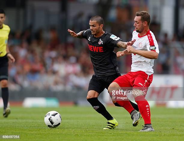 Leonardo Bittencourt of FC Koeln and Maik Kegel of Fortuna Koeln'n battle for the ball during the preseason friendly match between Fortuna Koeln and...