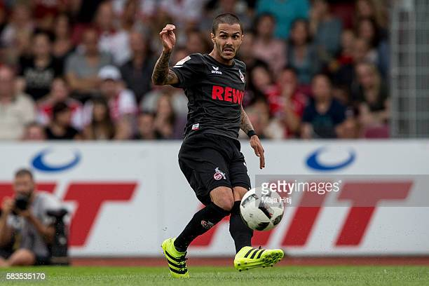 Leonardo Bittencourt of FC Koeln plays the ball during the preseason friendly match between Fortuna Koeln and 1 FC Koeln at Sued Stadion on July 26...