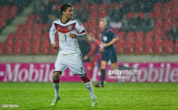Leonardo Bittencourt of Germany in action during the international friendly match between U21 Czech Republic and U21 Germany on November 18 2014 in...
