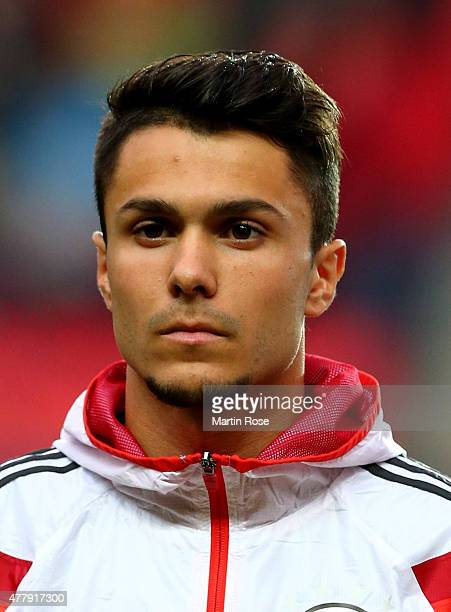 Leonardo Bittencourt of Germany looks on before the UEFA European Under21 Group A match between Germany and Denmark at Eden Stadium on June 20 2015...