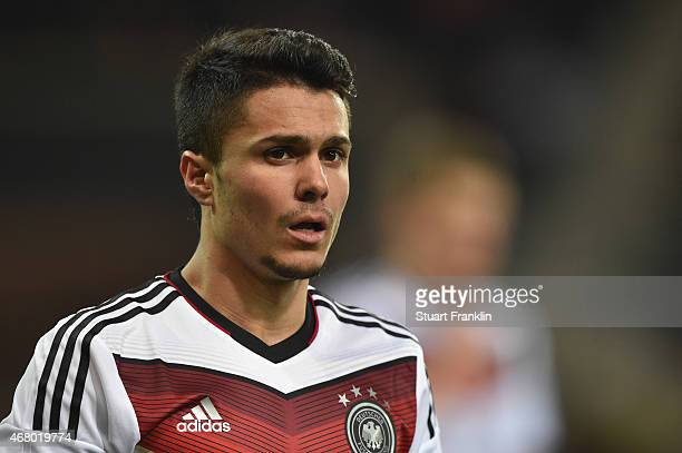 Leonardo Bittencourt of Germany looks on during a U21 International friendly match between U21 Germany and U21 Italy on March 27 2015 in Paderborn...