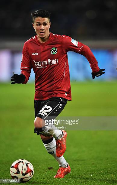 Leonardo Bittencourt of Hannover in action during the Bunsliga match between Hannover 96 and 1 FSV Mainz 05 at HDIArena on February 3 2015 in Hanover...