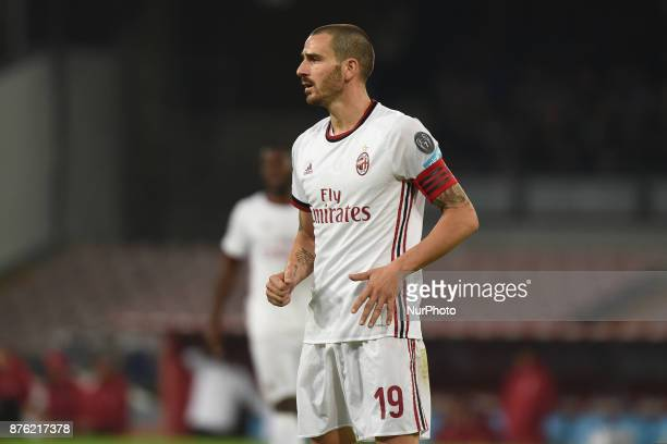 Leonardo Bonucci AC MilanAC during the Serie A TIM match between SSC Napoli and AC Milan at Stadio San Paolo Naples Italy on 18 November 2017
