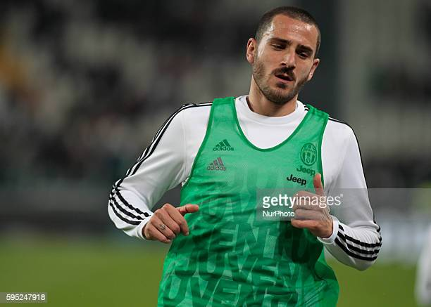 Leonardo Bonucci before the serie A match between Juventus FC and US Sassuolo Calcio at the Juventus Stadium of Turin on march 11 2016 in Torino italy