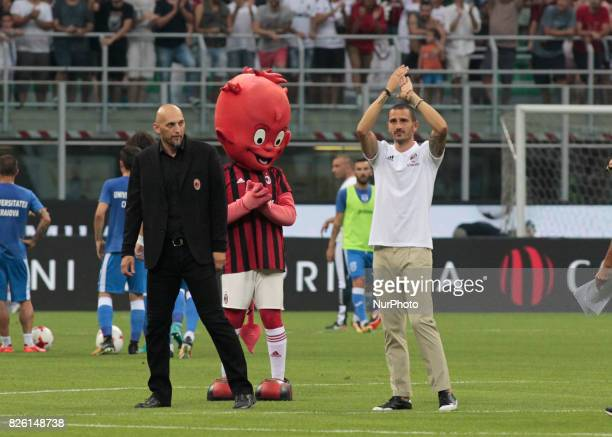 Leonardo Bonucci during the preliminaries of Europa League 2017/2018 match between Milan v Craiova in Milan on august 3 2017