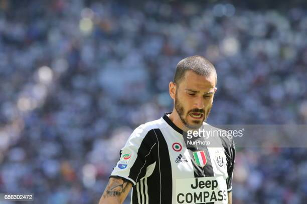 Leonardo Bonucci during the Serie A football match between Juventus FC and FC Crotone at Juventus Stadium on may 21 2017 in Turin Italy