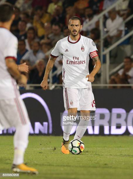 Leonardo Bonucci during the Serie A match between FC Crotone and AC Milan on August 20 2017 in Crotone Italy