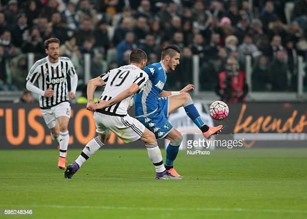 Leonardo Bonucci during the serie A match between Juventus FC and US Sassuolo Calcio at the Juventus Stadium of Turin on march 11 2016 in Torino italy