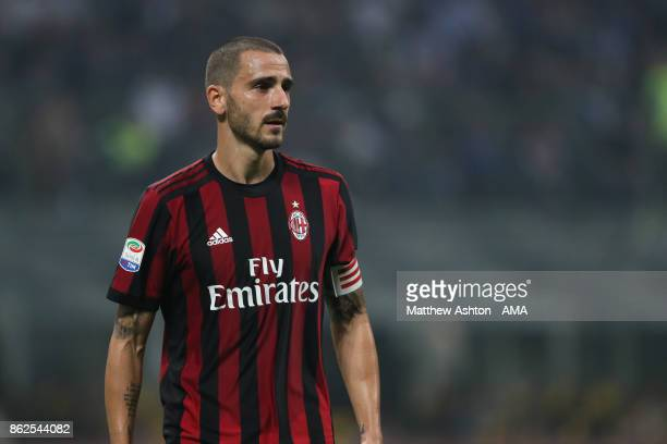 Leonardo Bonucci of AC Milan during the Serie A match between FC Internazionale and AC Milan at Stadio Giuseppe Meazza on October 15 2017 in Milan...