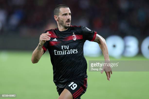 Leonardo Bonucci of AC Milan in action during the 2017 International Champions Cup football match between AC Milan and FC Bayern Muenchen on July 22...