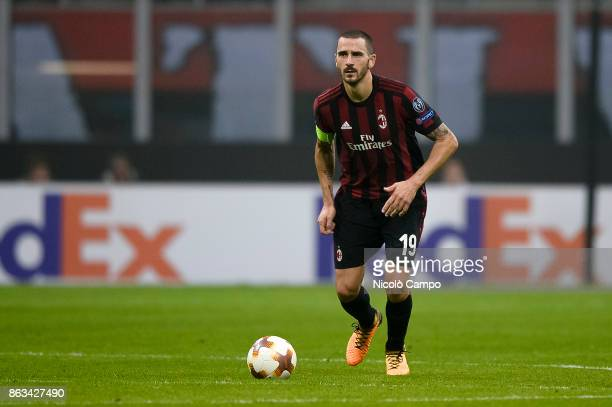 Leonardo Bonucci of AC Milan in action during the UEFA Europa League football match between AC Milan and AEK Athens The match ended in a 00 draw