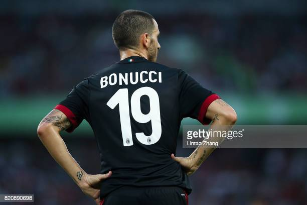 Leonardo Bonucci of AC Milan looks on during the 2017 International Champions Cup China match between FC Bayern and AC Milan at Universiade Sports...
