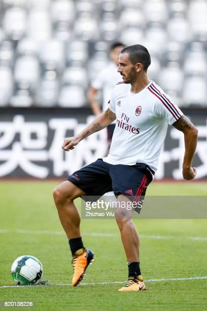 Leonardo Bonucci of AC Milan was training at Universiade Sports Centre Stadium on July 21 2017 in Shenzhen China