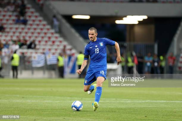 Leonardo Bonucci of Italy in action during the international friendly match between Italy and Uruguay Italy wins 30 over Uruguay