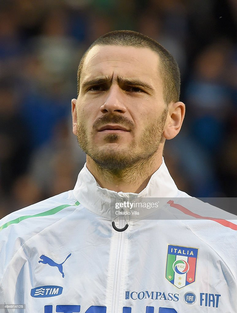 Leonardo Bonucci of Italy looks on prior to the International Friendly match between Italy and Ireland at Craven Cottage on May 31, 2014 in London, England.