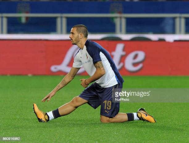Leonardo Bonucci of Italy player during the warmup before the match valid for the Qualifying Round of Fifa World Cup Russia 2018 between Italy...