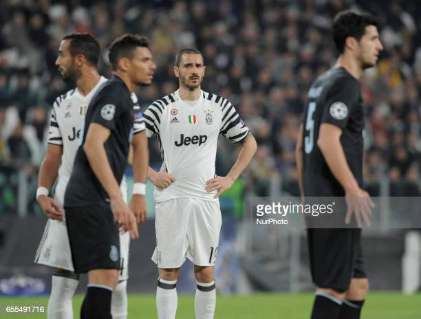 Leonardo Bonucci of Juventus during the Uefa Champions League 20162017 match between FC Juventus and FC Porto at Juventus Stadium on March 14 2017 in...