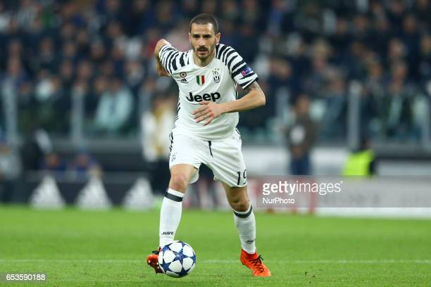 Leonardo Bonucci of Juventus during the UEFA Champions League Round of 16 second leg match between Juventus and FC Porto at Juventus Stadium on March...